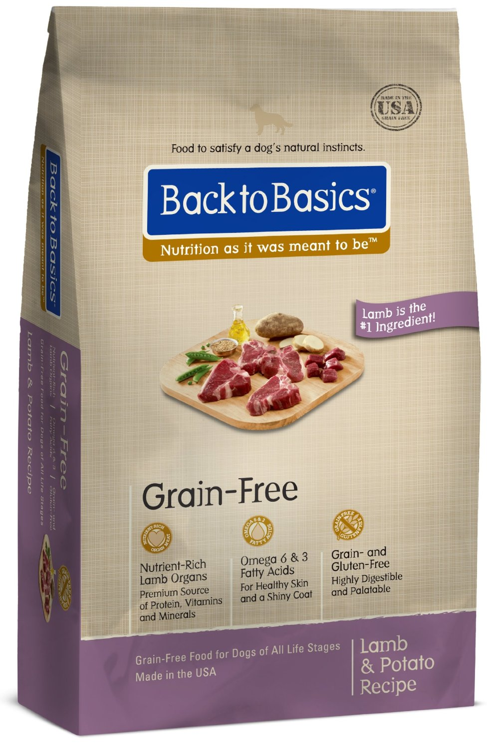 Back to Basics Lamb & Potato Grain Free Dog Food