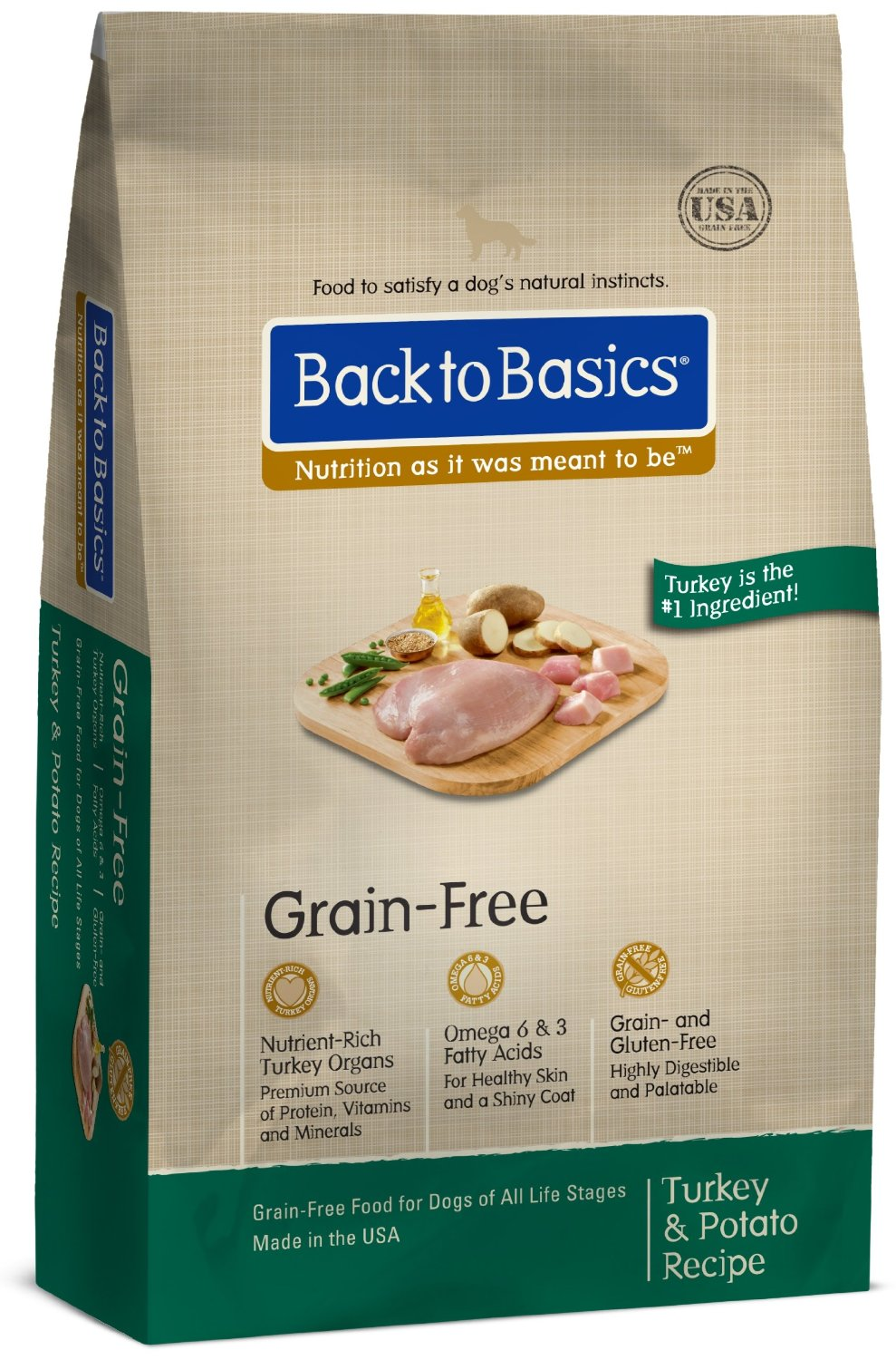 Back to Basics Turkey & Potato Grain Free Dog Food