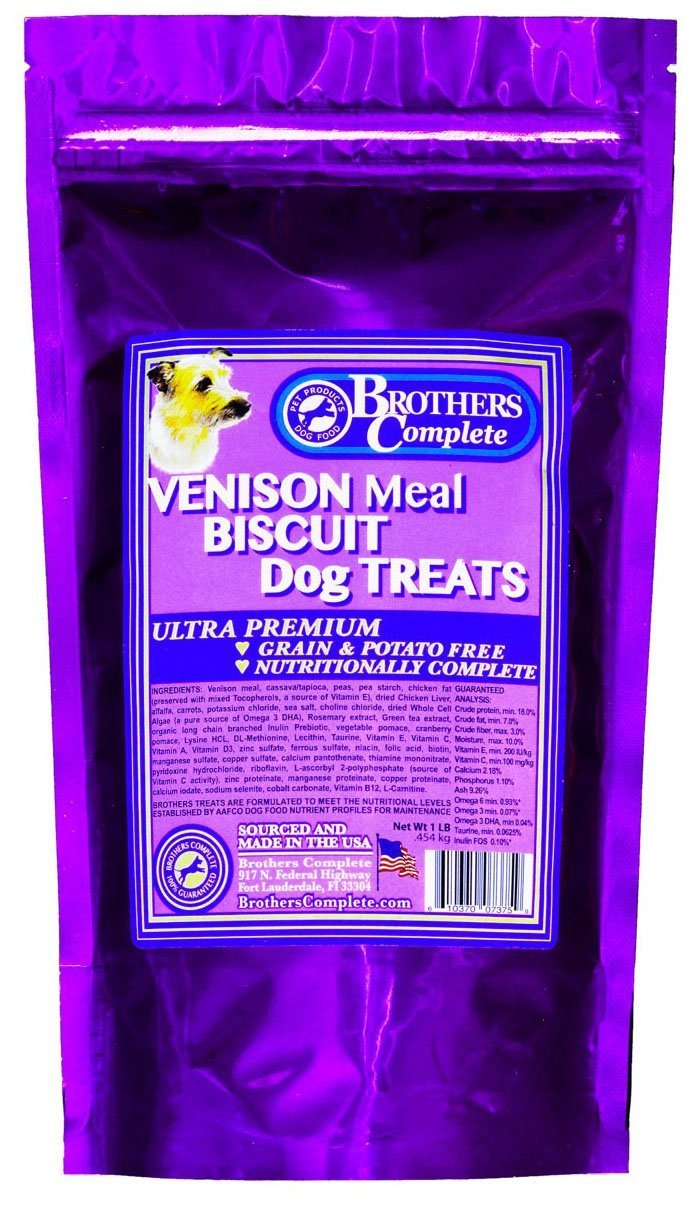 Brothers Complete Venison Biscuit Dog Treats
