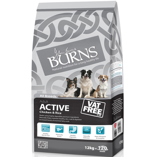 Burns Active Chicken & Rice Dog Food