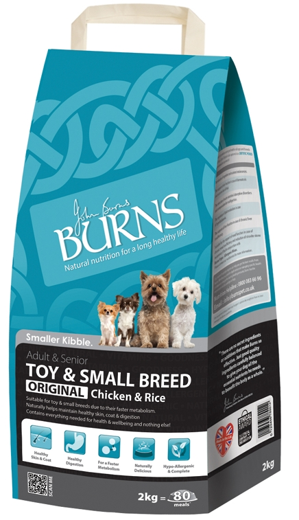 Burns Toy & Small Breed Chicken & Rice Dog Food