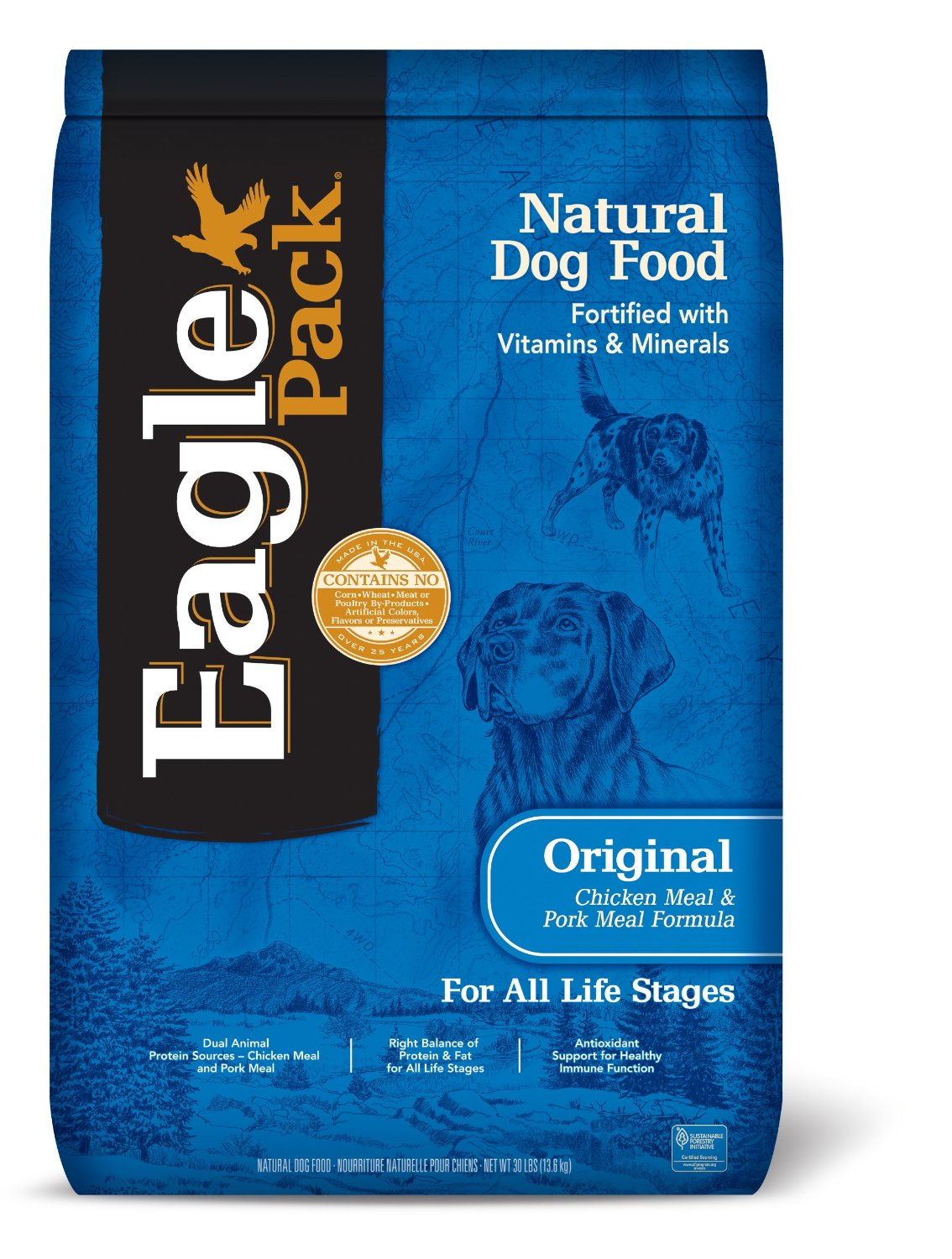 Eagle Pack Natural Chicken Meal & Pork Meal Dry Puppy Food
