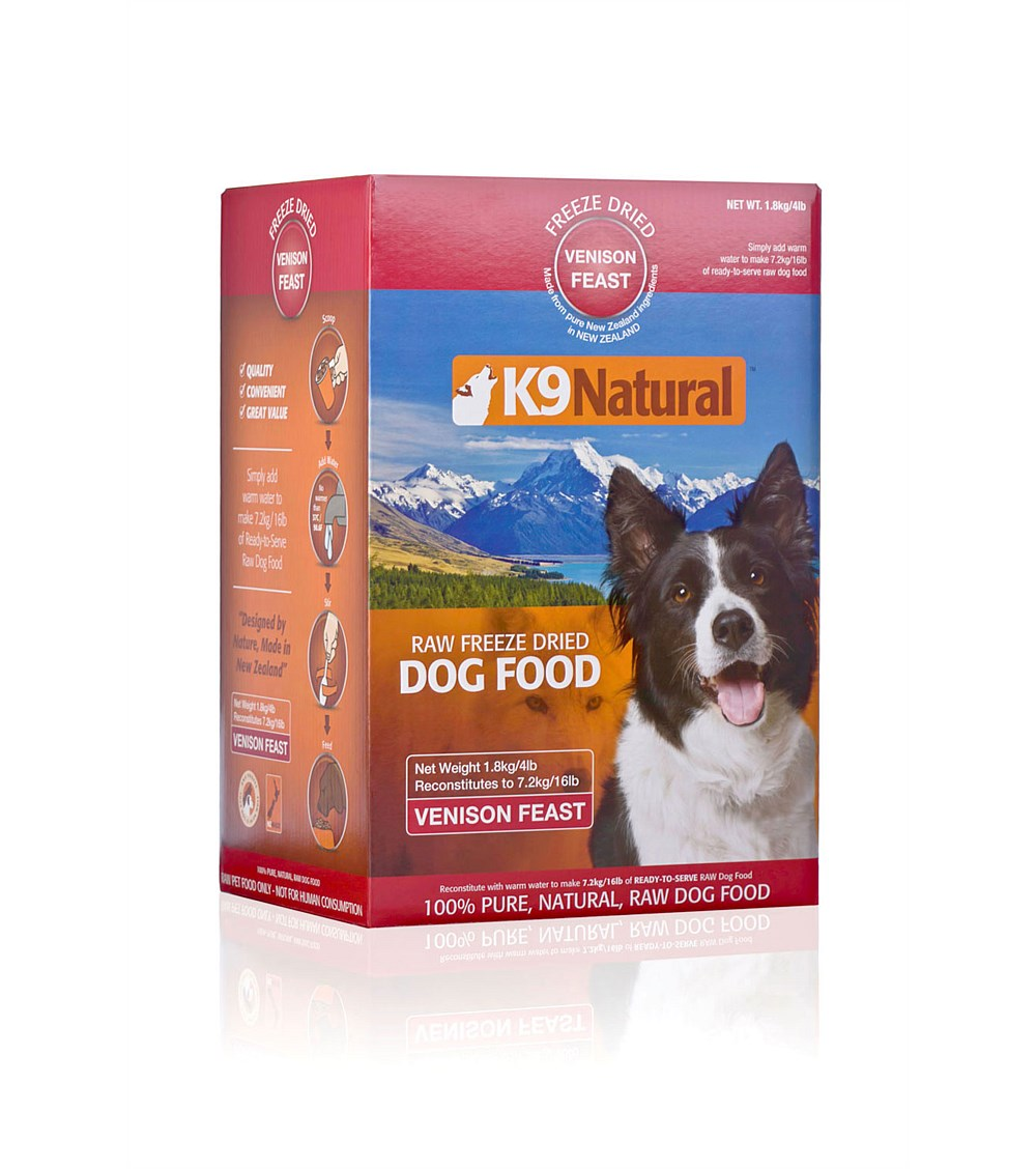 K9 Natural Venison Freeze Dried Dog Food