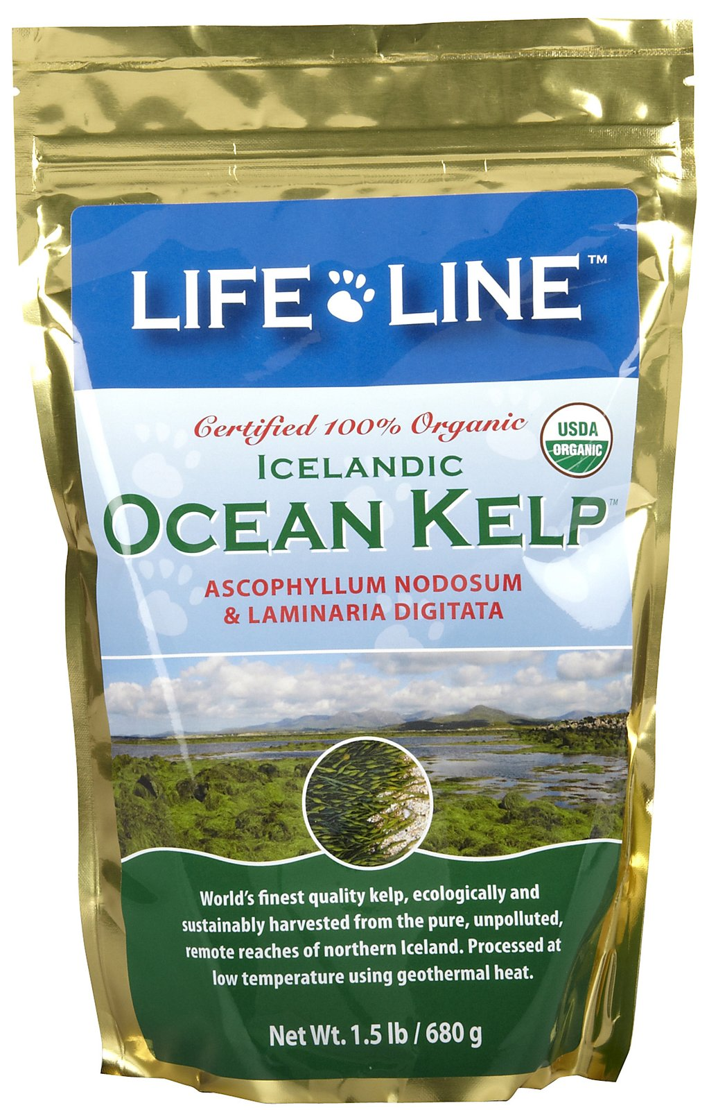 Life Line Organic Ocean Kelp Supplement for Dogs & Cats