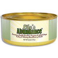 Life's Abundance Turkey & Shrimp in Broth Dog Food