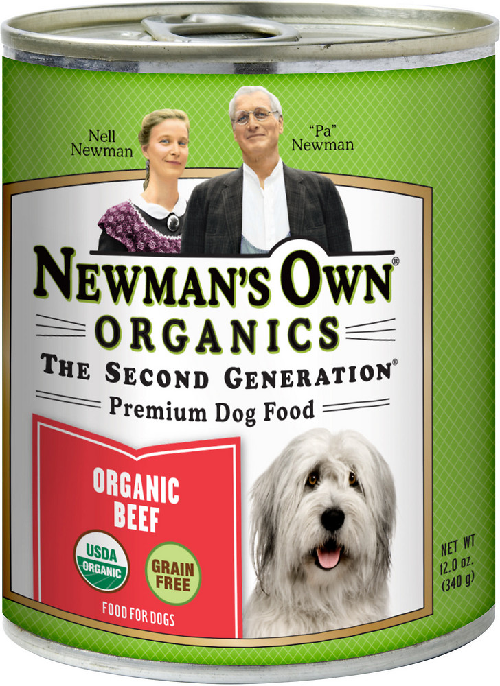 Newman's Own Organics Canned Beef Dog Food