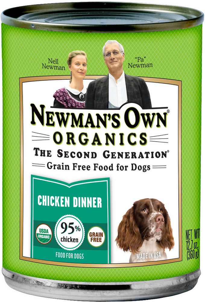 Newman's Own Organics Canned Chicken Dog Food