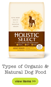 Types of Organic & Natural Dog Food