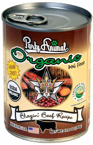 Party Animal Organic Blazin Beef Canned Dog Food
