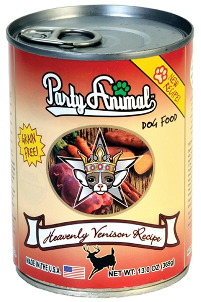 Party Animal Organic Heavenly Venison Canned Dog Food