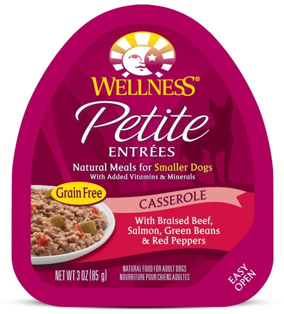Petite Entrées Casserole With Braised Beef, Salmon, Green Beans & Red Peppers