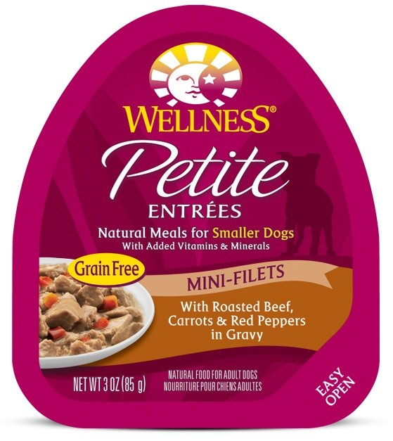 Petite Entrées Mini-Filets With Roasted Beef, Carrots & Red Peppers in Gravy