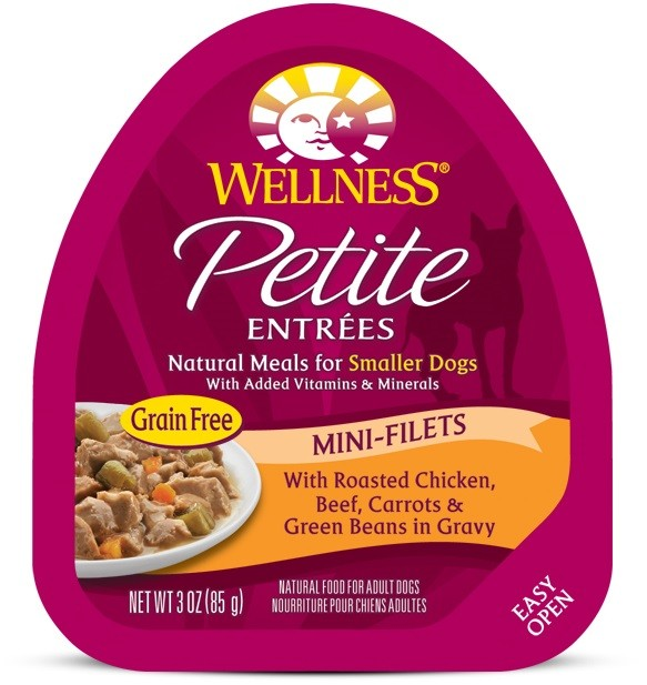 Petite Entrées Mini-Filets With Roasted Chicken, Beef, Carrots & Green Beans in Gravy