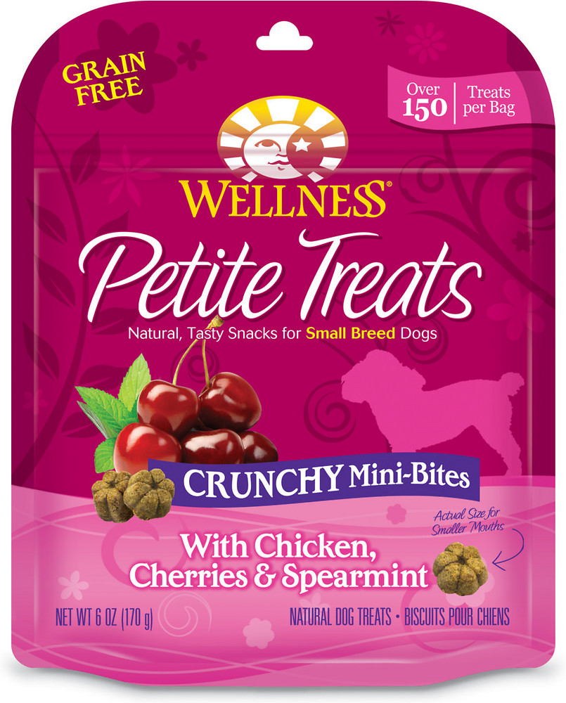Petite Treats Crunchy Mini-Bites With Chicken, Cherries & Spearmint