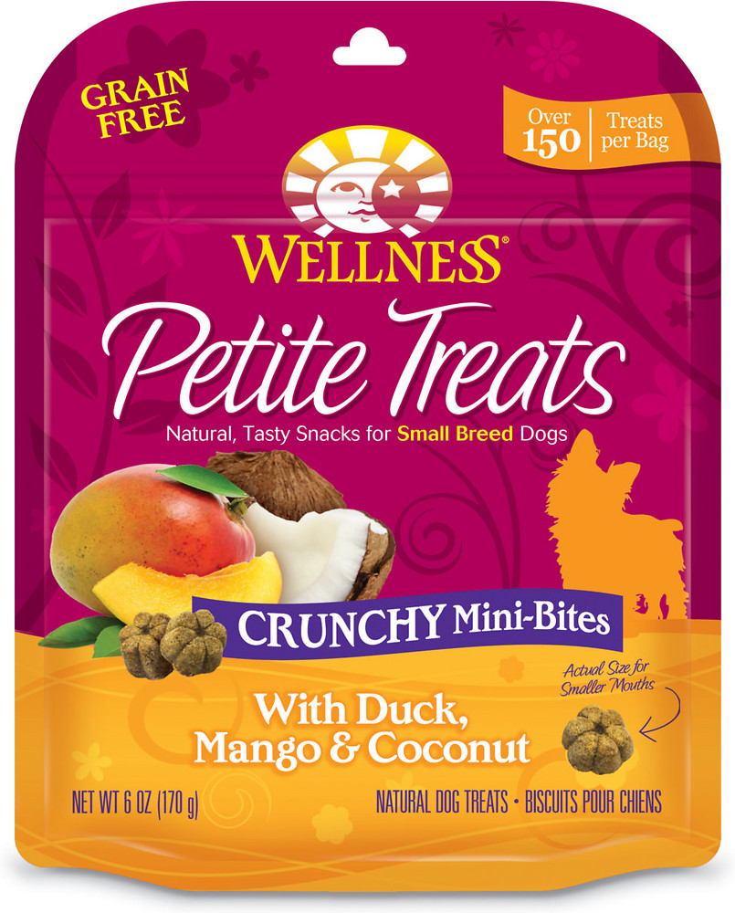 Petite Treats Crunchy Mini-Bites With Duck, Mango & Coconut