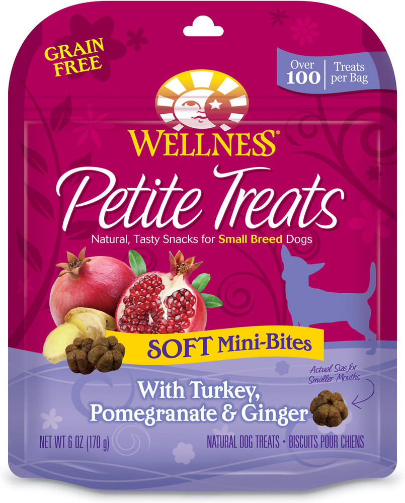 Petite Treats Soft Mini-Bites With Turkey, Pomegranate & Ginger