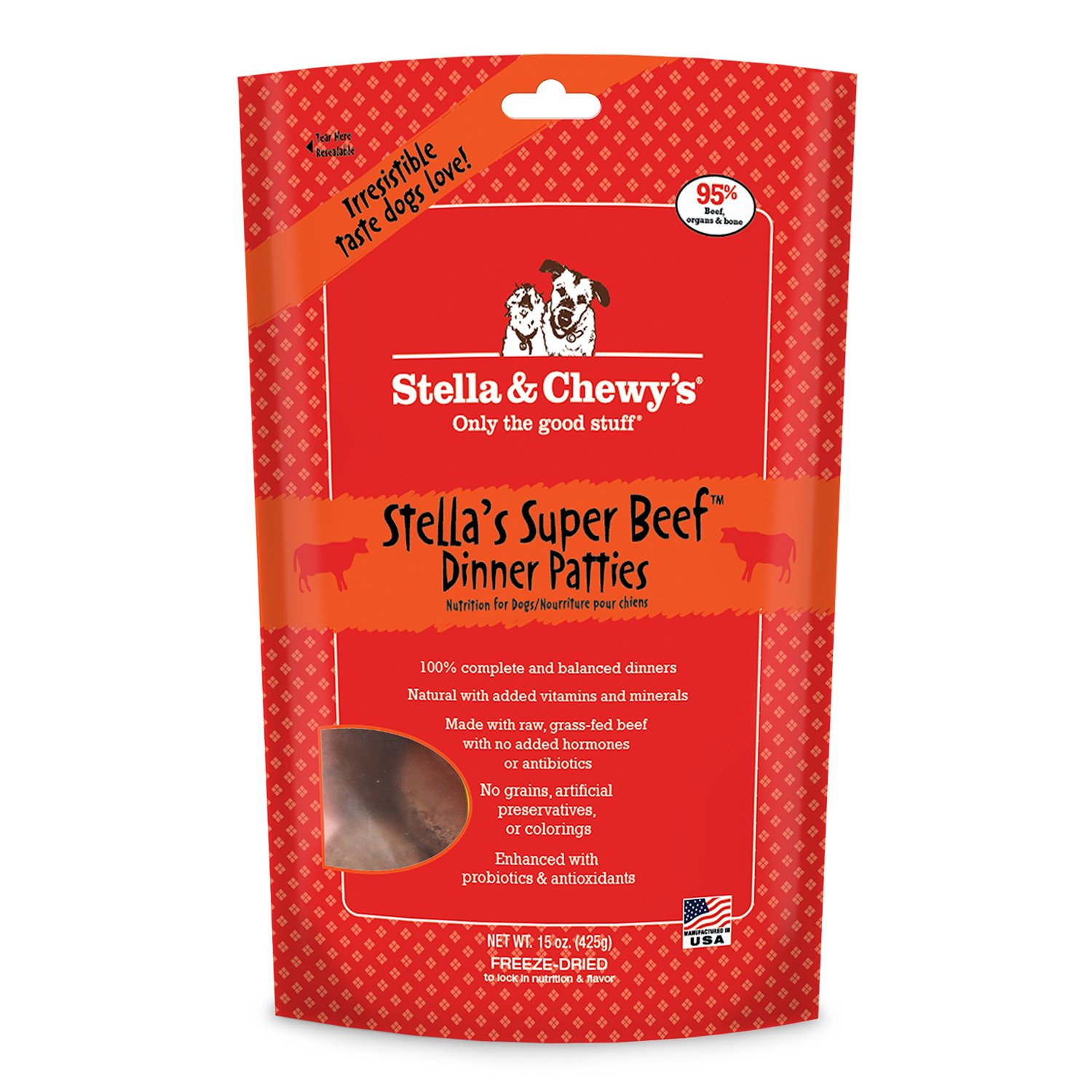 Stella & Chewy's Beef Freeze Dried Dog Dinners