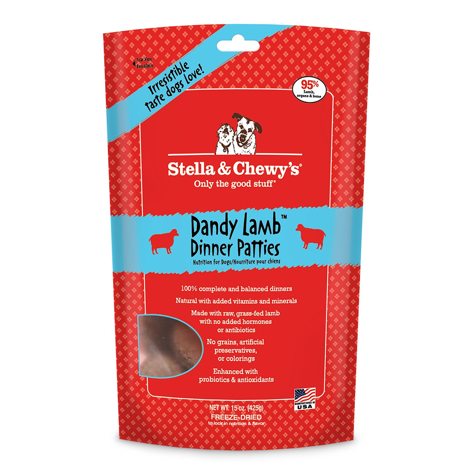 Stella & Chewy's Lamb Freeze Dried Dog Dinners