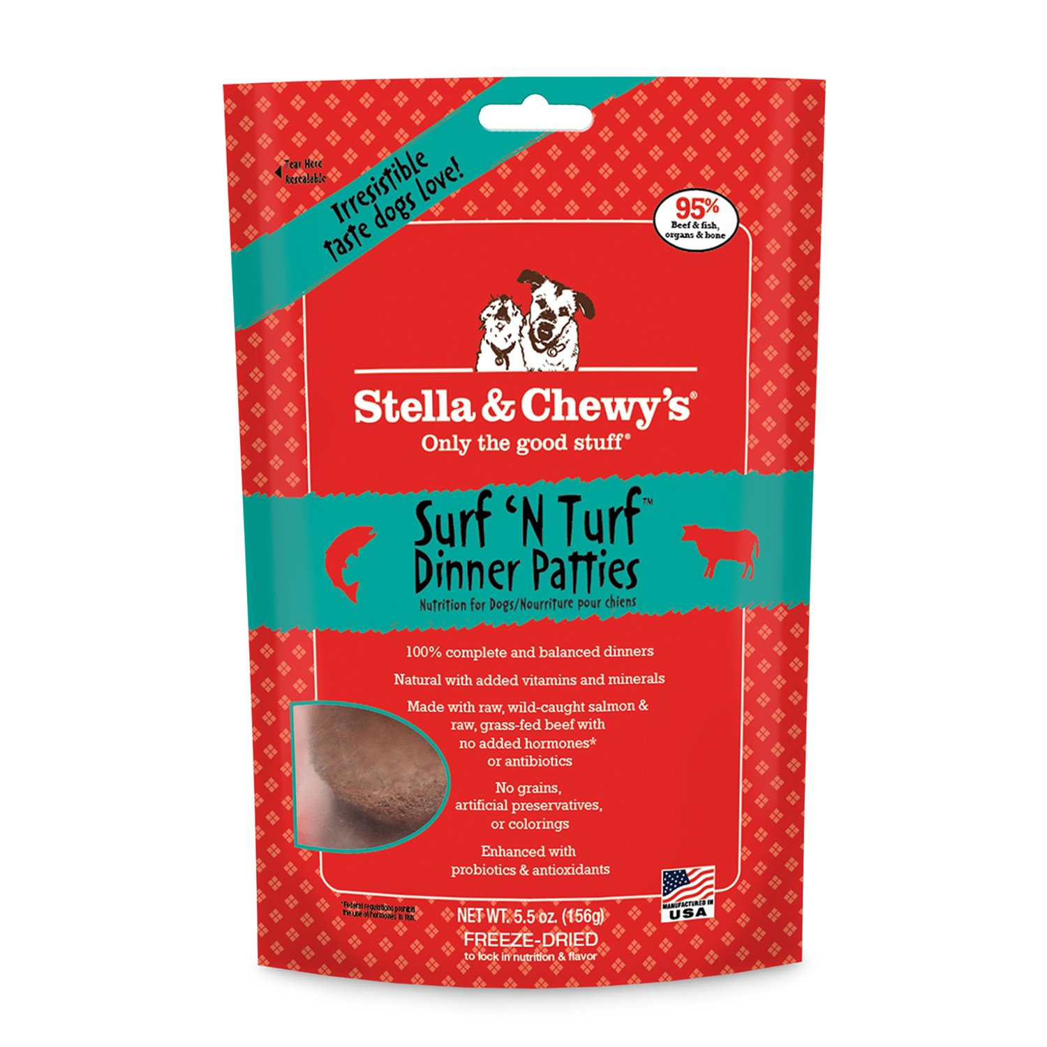 Stella & Chewy's Surf N Turf Freeze Dried Dog Dinners