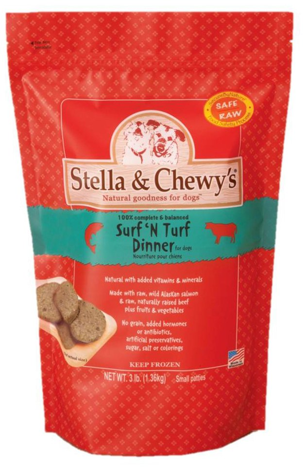 Stella & Chewy's Surf N Turf Frozen Patties Dog Dinners