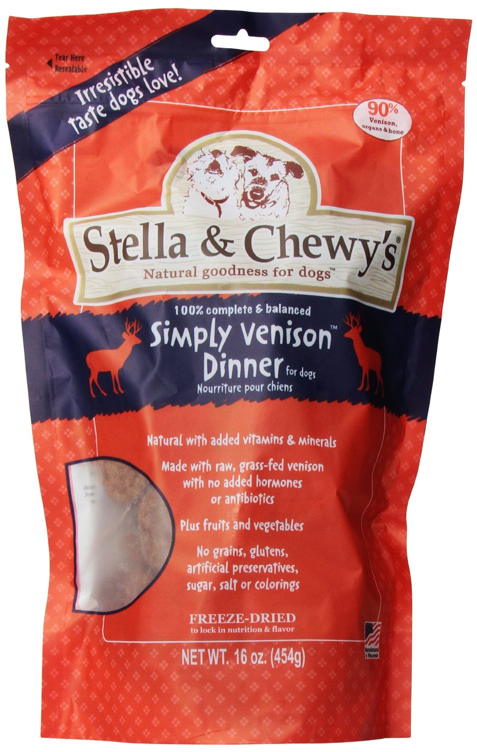 Stella & Chewy's Venison Dog Dinners