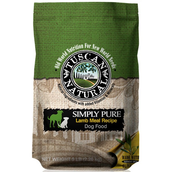 Tuscan Natural Simply Pure Lamb Meal Recipe Dog Food