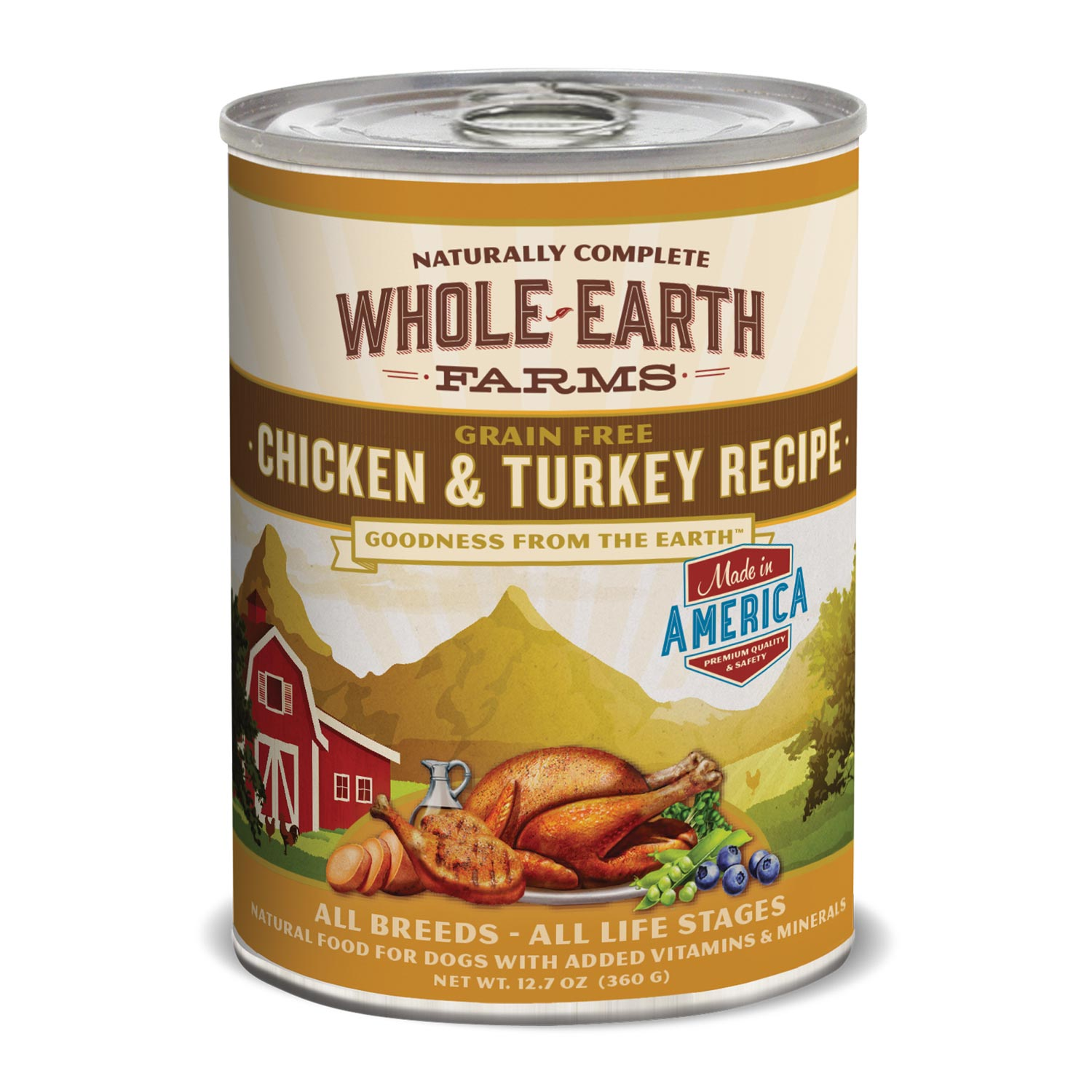 Whole Earth Farms Grain Free Chicken & Turkey Canned Dog Food
