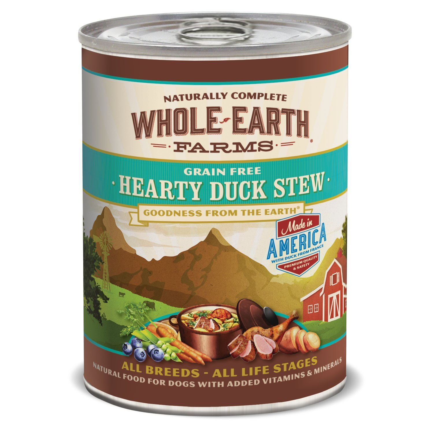 Whole Earth Farms Grain Free Duck Canned Dog Food