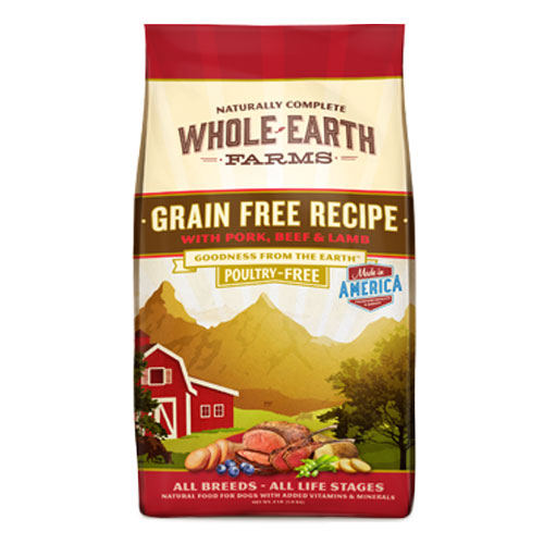 Whole Earth Farms Grain Free Pork, Beef, & Lamb Dry Dog Food