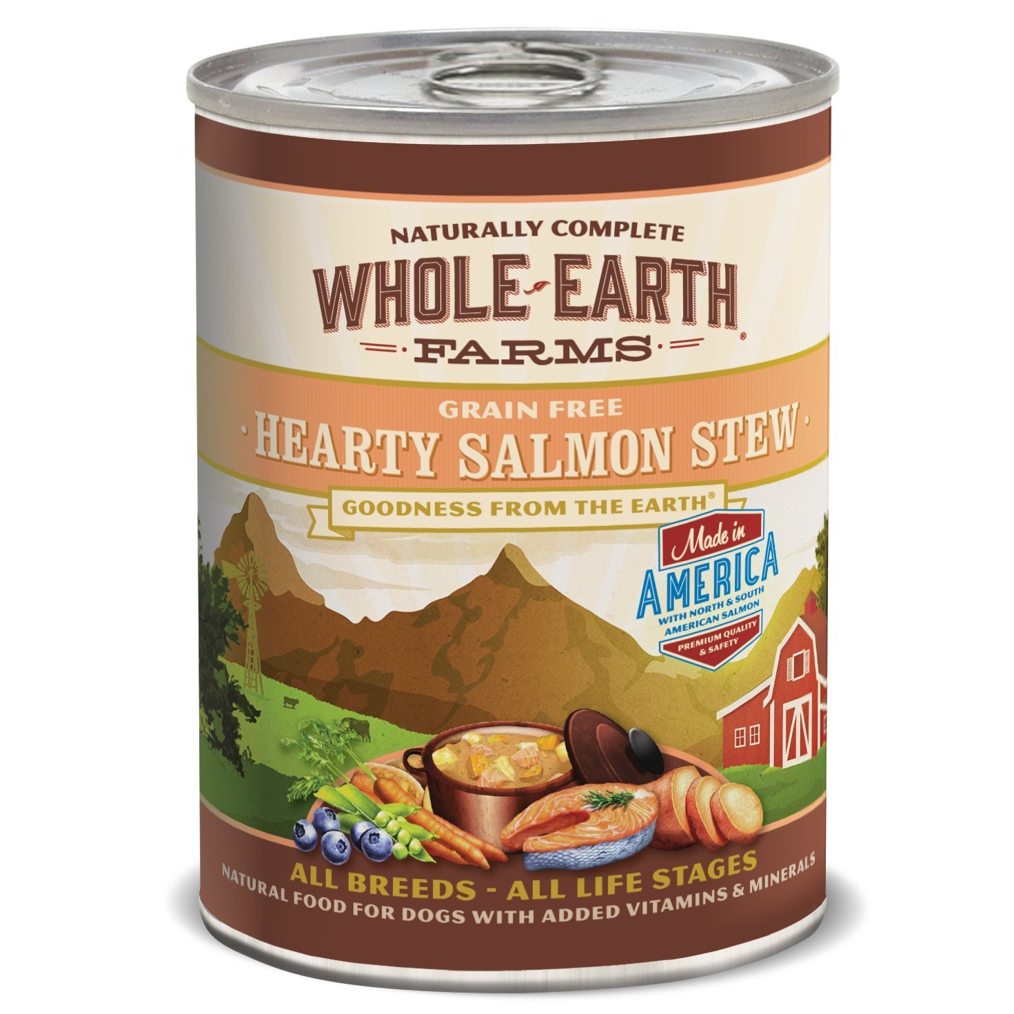 Whole Earth Farms Grain Free Salmon Canned Dog Food