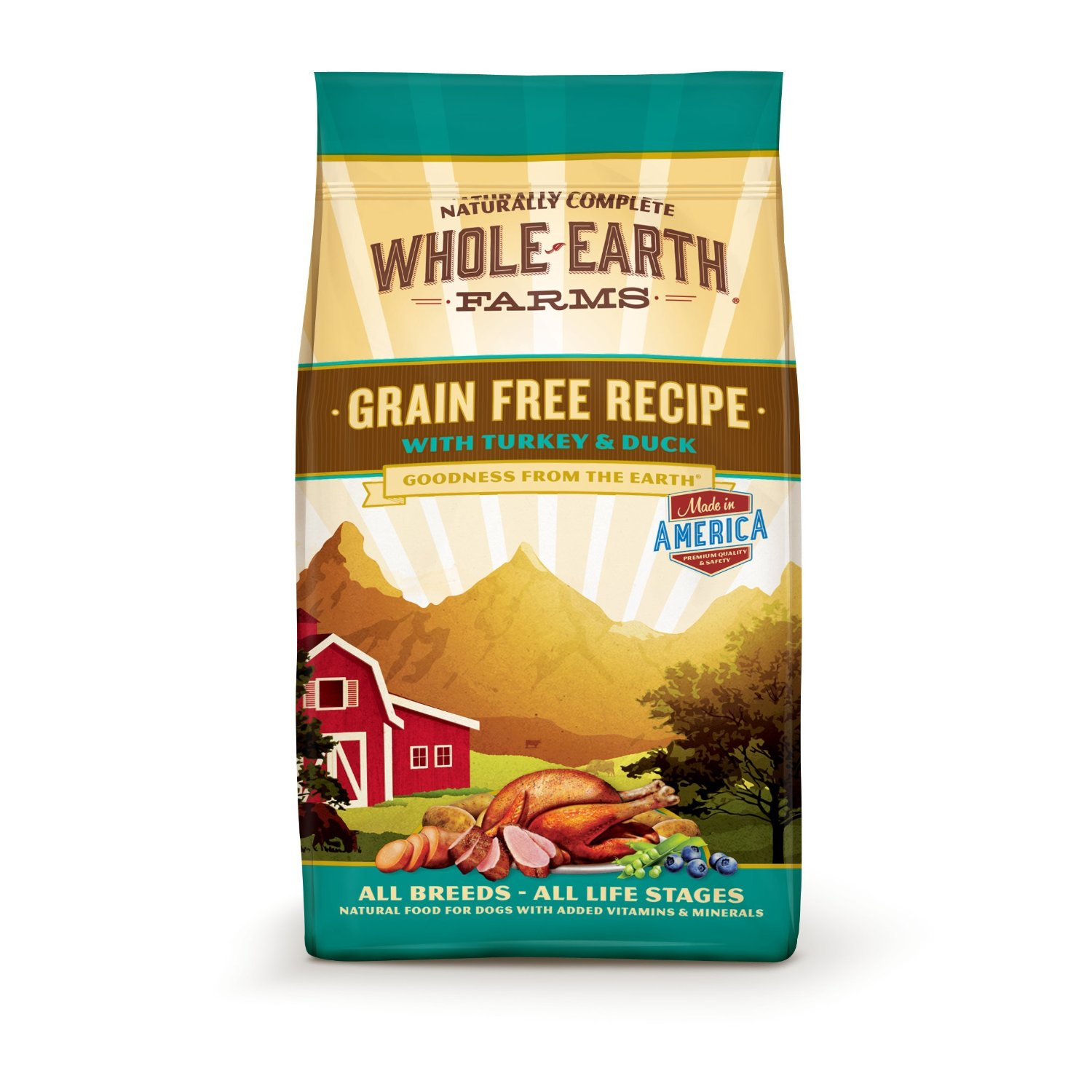 Whole Earth Farms Grain Free Turkey & Duck Dry Dog Food